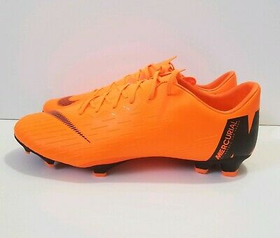 brand new 06fa9 42dce Nike Mercurial Vapor XII 12 Pro FG Orange Black Soccer Cleats Sz 13 (AH7382- 810)