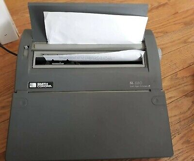 Used Smith Corona Sl-580 Electric Typewriter Intelligently Quiet 5a-1