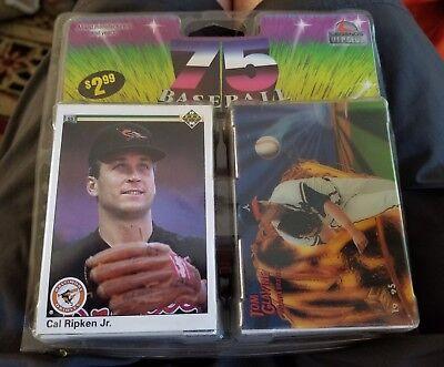 Pinnacle Legends V I P  Club 75 Baseball Cards Cal Ripken Tom Glavine Upper Deck