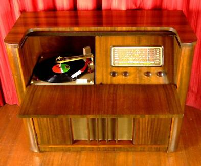 Restored VINTAGE RECORD PLAYER Radiogram TURNTABLE Radio Melb St Kilda Port Phillip Preview