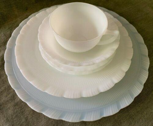MacBeth Evans Depression Glass CREMAX OXFORD (Lot 8 Pcs.) Platter, Dinner Plates