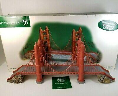 DEPARTMENT 56 GOLDEN GATE BRIDGE Christmas City Historical Landmark 56.59241 - Golden Gate Bridge Landmark