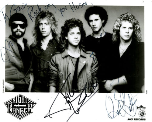 NIGHT RANGER PROMOTIONAL PHOTOGRAPH SIGNED BY ALL 5 BAND MEMBERS