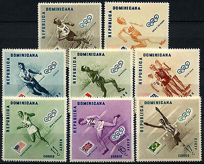 Dominican Republic 1957 SG#689-696 Olympic Games MNH Set #D37607