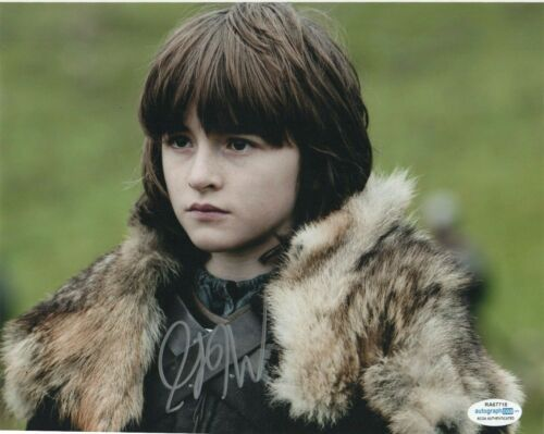 Isaac Hempstead Wright Game of Thrones Autographed Signed 8x10 Photo ACOA MA11
