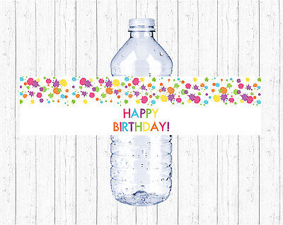 Art Birthday Party Rainbow Painting Art Party Printable Water Bottle Labels  - Birthday Painting