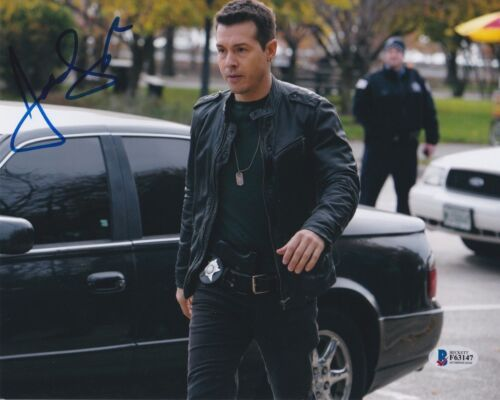 JON SEDA SIGNED 8X10 PHOTO CHICAGO PD P.D. BECKETT BAS AUTOGRAPH AUTO COA C