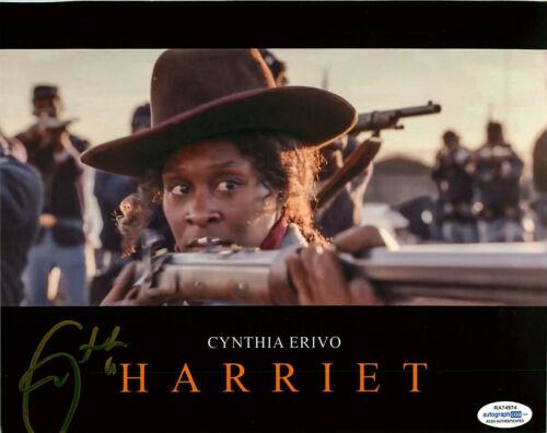 Cynthia Erivo Signed HARRIET 8x10 Photo PROOF ACOA B Tubman El Royale