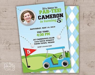 Golf Party Invitations - Sports Birthday or Baby Shower - Personalized Set of 12](Sports Birthday Invitations)