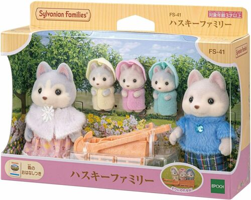 Sylvanian Families / Calico Critters Husky Dog Family FS-41