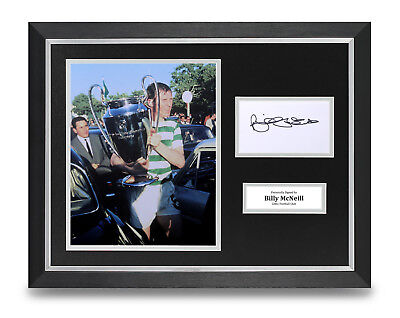 Billy McNeill Signed 16x12 Framed Photo Display Celtic 67 Autograph Memorabilia