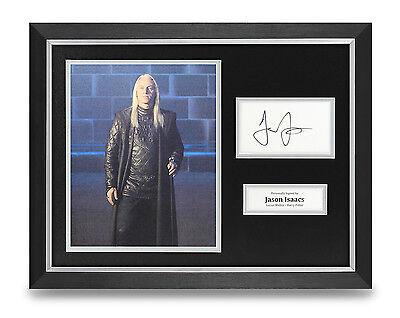 Jason Isaacs Signed Photo Framed 16x12 Autograph Actor Memorabilia COA