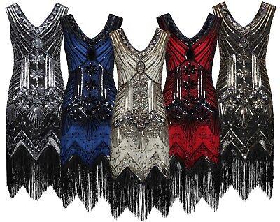 Damen 1920 20er 30er Jahre Charleston Kostüm Kleid - Flapper 20er Kleider