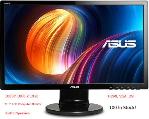 "ASUS VE228H 21.5"" LCD HD 1920x1080 HDMI DVI VGA Back-lit LED Monitor W Speakers"