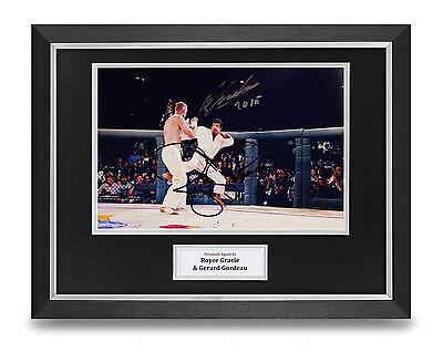 Royce Gracie & Gerard Gordeau Signed Photo Framed 16x12 UFC Autograph Display