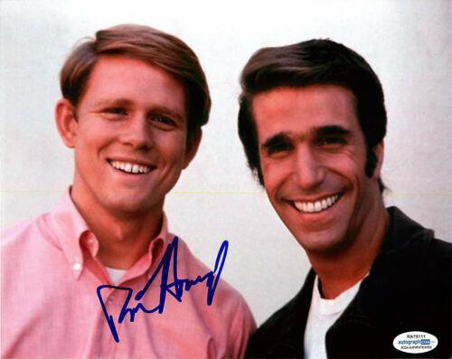 Ron Howard Signed 'Happy Days' 8x10 Photo w/ Henry Winkler EXACT Proof ACOA