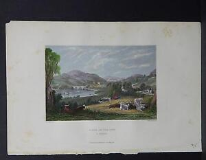 Scotland, Engraving, c. 1840, Hand Color, Scene on the Nith, #14