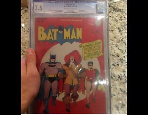 Selling A CGC Graded Golden Age Batman Comic Book #32 7.5 1945