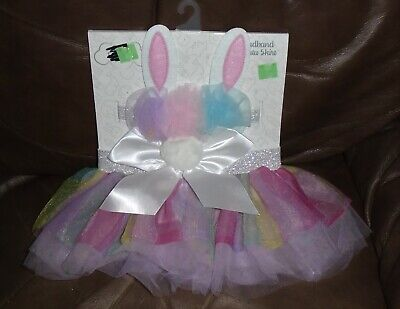 Baby Essentials Headband & Tutu Skirt Bunny Costume Halloween 0-6 months NEW