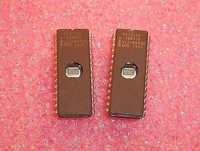 Qty 5 D27c256-200v10 Intelceramic Dip Eprom Socket Pulls Cleaned Erased