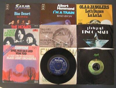 "Singles Vinyl 7"" original 70er - Pop - 9 Stück"