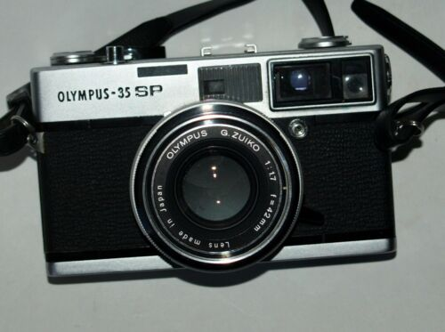 Olympus 35SP 35mm camera; Case; closeup lenses, WORKS, SEE TEST PHOTOS