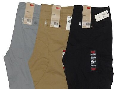 - Levis Relaxed Fit Ace Cargo Pants Beige Tan Black Grey Gray 30 32 33 34 36 38 40