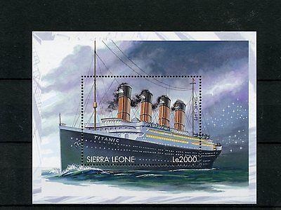 Sierra Leone 1998 MNH Titanic 1v S/S Ships Boats