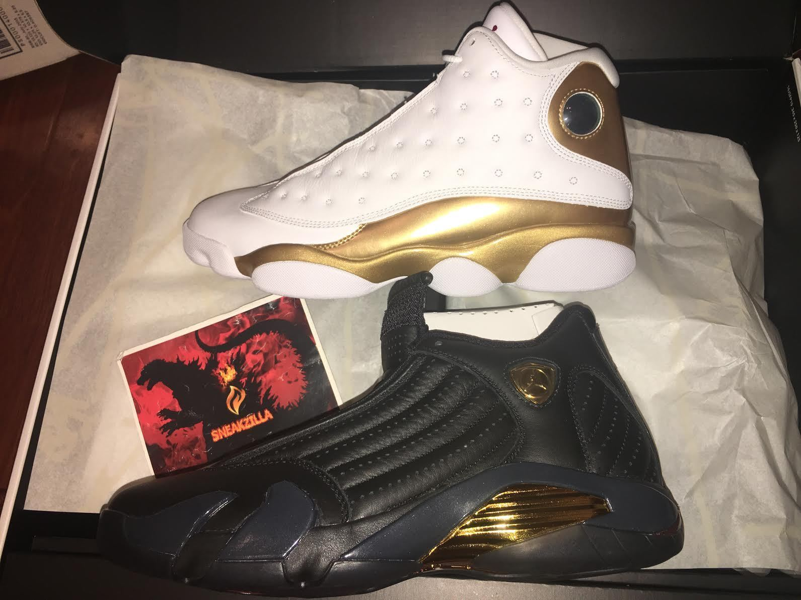 Nike Air Jordan Retro 13 14 DMP Last Shot Finals Pack 897563-900 Gold 9.5-10.5