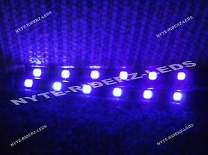 PURPLE-5050-SMD-LED-STRIPS-PAIR-OF-6-INCH-STRIPS-FITS-DODGE-GMC-KIA-CHEVY