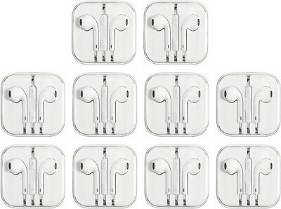 Lot Of 10 Earbuds Earphones For 3.5mm Aux iPhone 3 4 5 6/6s iPod iPad NON -
