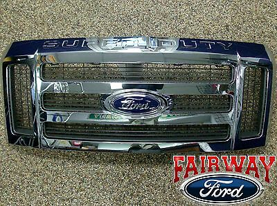 08 09 10 F250 F350 F450 F550 OEM Genuine Ford Super Duty Chrome Grille Grill