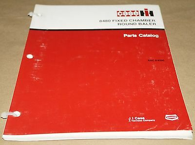 Case 8480 Fixed Chamber Round Baler Parts Catalog Manual Book Rac 8-8290