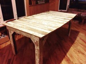 Picket Fence Handcrafted Rustic Dining Table