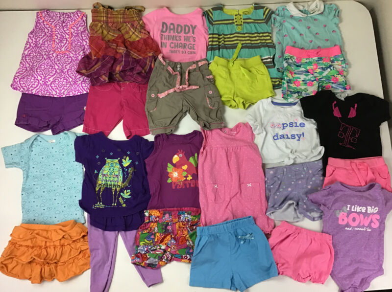 Lot Of Baby Girls Spring, Summer Clothes, Size 12 Months. Shorts