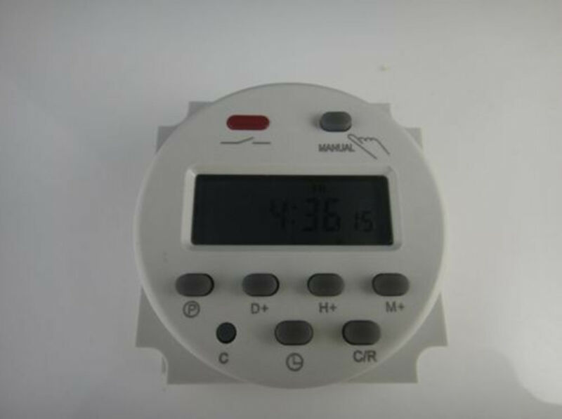 Cn101A DC 12V Digital LCD Power Programmable Timer Time switch Relay 16A