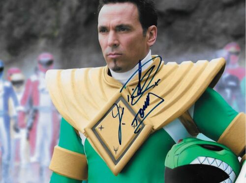 Jason David Frank signed Power Rangers Green Ranger Actor RARE COA LOOK!