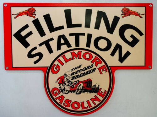 Gilmore Gasoline Filling Station Plasma Cut Metal Sign