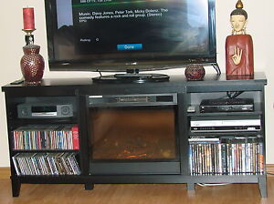 Fireplace/tv stand combo