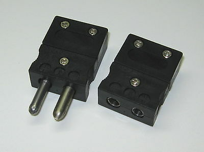 Standard J-type Connector Set Pair Male Female F. Thermocouple Extension Wire