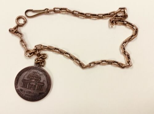 Rare 1901 PAN AMERICAN EXPOSITION Watch fob PENDANT~TEMPLE OF MUSIC McKinley