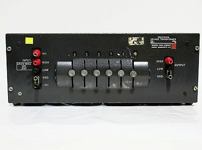 General Radio Type 1493-a Precision Decade Transformer
