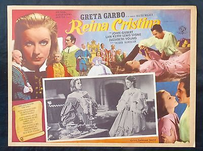 GRETA GARBO Queen Christina ELIZABETH YOUNG John Gilbert Lobby Card 1933 N MINT
