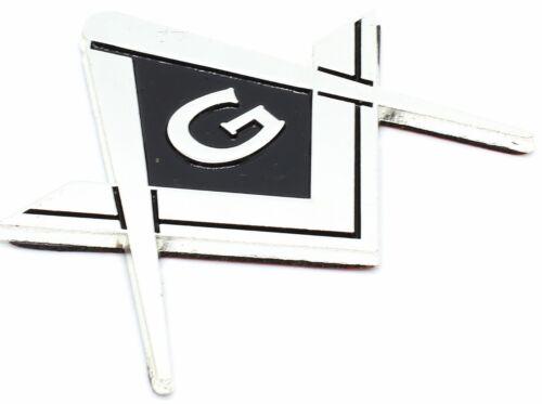 Masonic Master Mason Square & Compass G Symbol Cut Out Car Auto Emblem SILVER 22