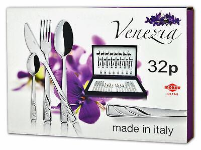 Venezia 32-teiliges Besteckset aus Edelstahl 8 Personen Tafelbesteck