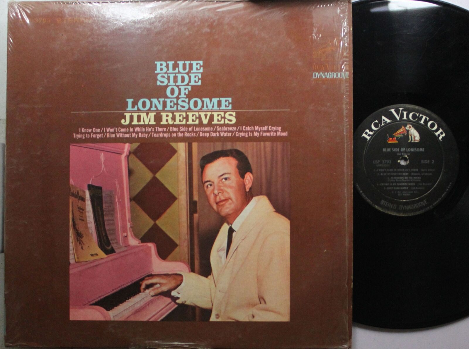 Country Lp Jim Reeves Blue Side Of Lonesome On Rca | eBay