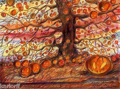 THE HALLOWEEN TREE Ray Bradbury Artwork,Print, illustration Art Artist John York (The Halloween Tree Art)
