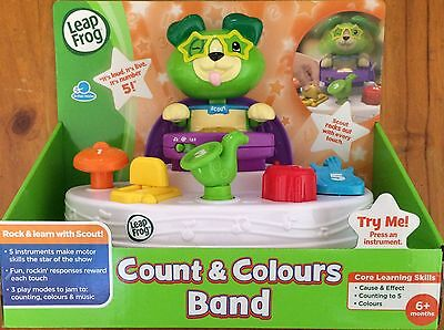 NEW LEAP FROG COUNT & COLOURS BAND ~ EDUCATIONAL TOY ~ NUMBERS, COLOURS