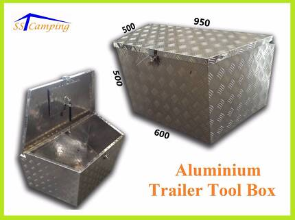 Aluminium Trailer Tool Box Mount On Draw Bars of Trailers Campers Clayton Monash Area Preview