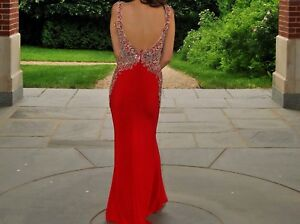 Red Sparkly Prom Dress!
